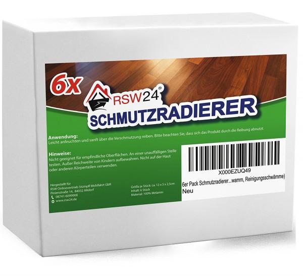 6 Stück Schmutzradierer - Medium 12x5x2,5 cm